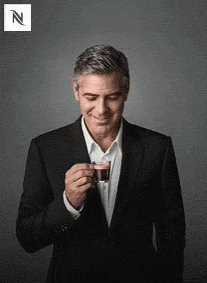 George Clooney Coffee GIF