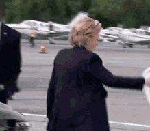Hillary Clinton Plane GIF