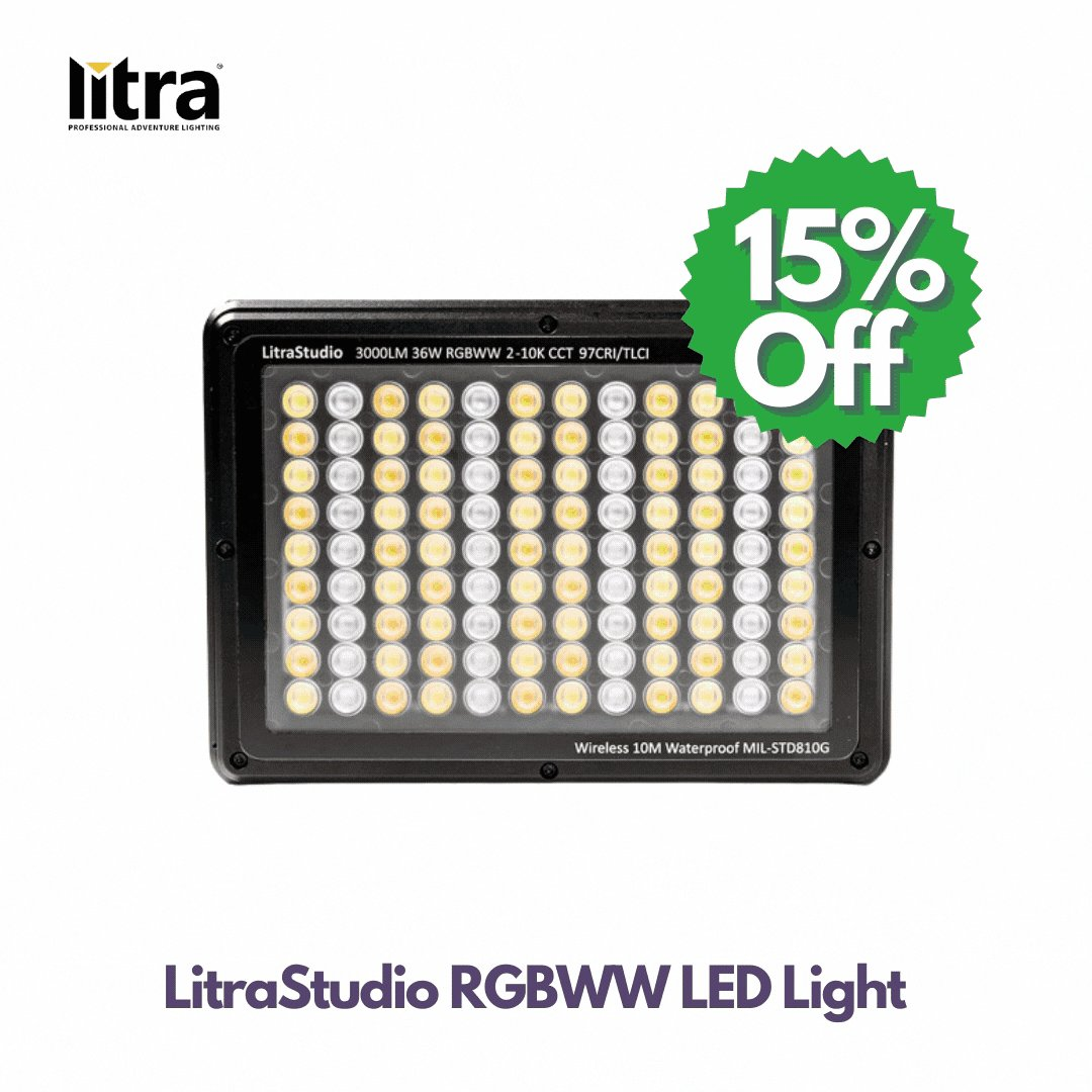 Up to 15% Off LitraStudio RGBWW LED Light.   Boasting over one million unique colours and an uncompromised colour accuracy, the LitraStudio RGBWWW LED Light delivers impeccable results.   Shop Now! https://t.co/K1rwaZD41E   #photograghy #videography #Sales #Promo #discount #litra https://t.co/hrANdNQPtS