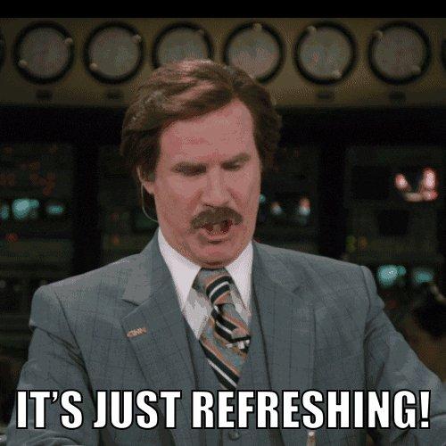 refreshing will ferrell GIF by Anchorman Movie