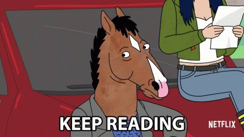 Keep Reading Bojack GIF