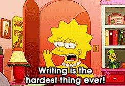 lisa simpson writing GIF