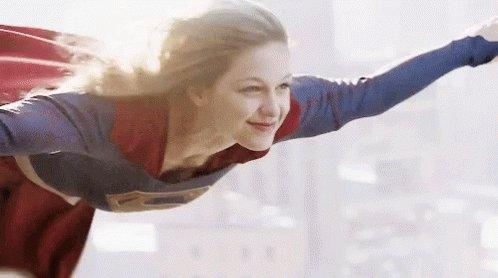 Supergirl Flying GIF