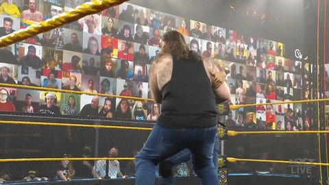 Shrek & Donkey couldn't do 𝒕𝒉𝒂𝒕... just saying.   #WWENXT @ZackGibson01 @JamesDrake_GYT @WWEMaverick