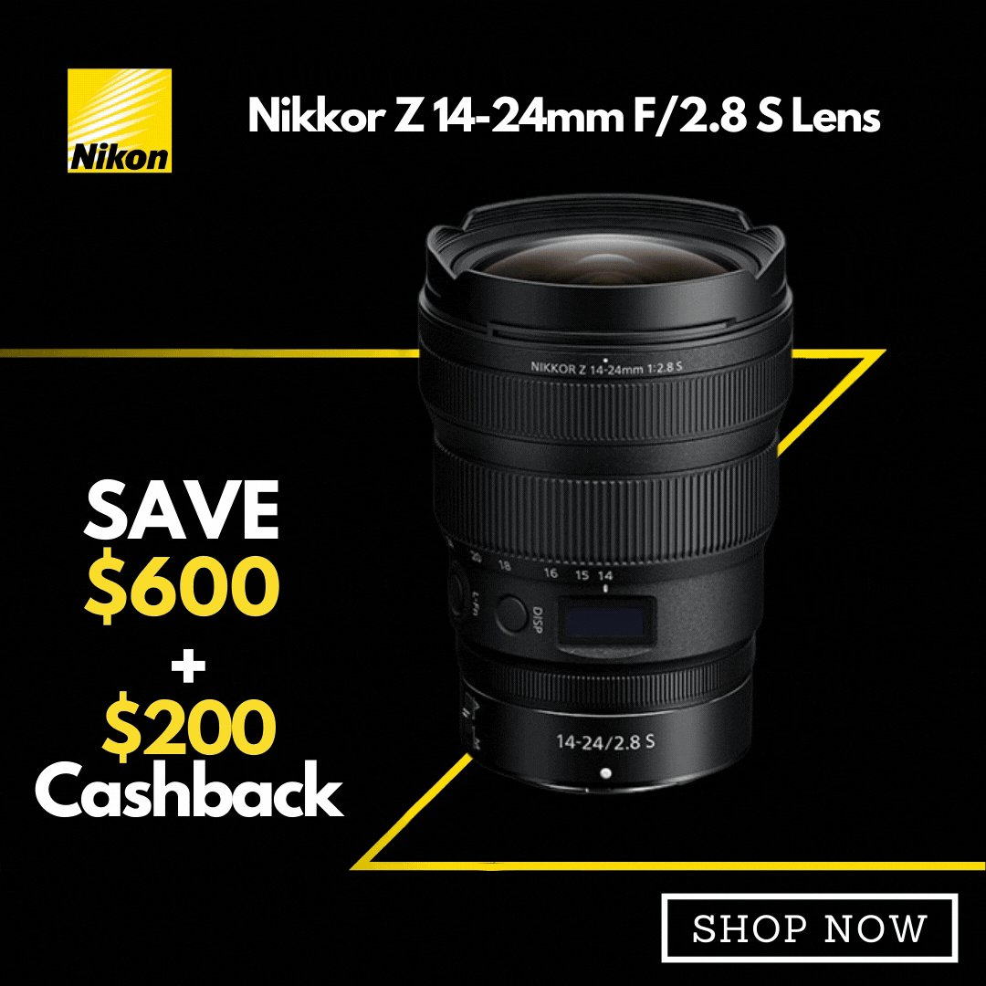 Reach a whole new range of expression.   Save $600 On Nikkor Z 14-24mm F/2.8 S Lens + $200 Cashback Via Redemption.    Buy Now! https://t.co/c8d6qd4WzA   @Nikon_Australia #nikon #Promo #Sales #discount #cashback #photography #landscape #videography https://t.co/BmJmtbhd8m