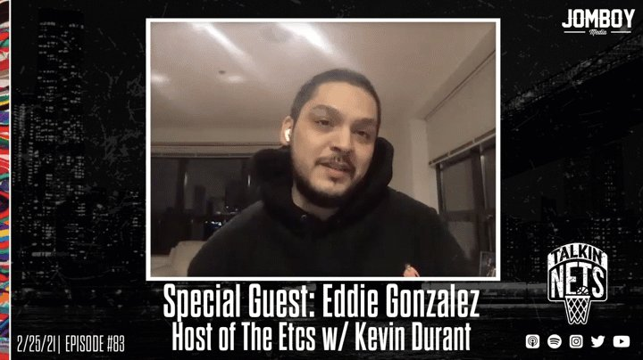 Good morning Nets World! 🌎🏀😈  🆕 Talkin' Nets 83   Special Guest: @bansky, host of #TheEtcs w/ Kevin Durant  • Bruce Brown, Kings talk to open • Eddie Gonzalez joins the show! • We talk basketball, hip hop, culture  Pod:  Vid: