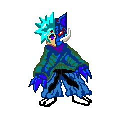 A character I made for a 2D side scroller that I'm currently working on for my game development class. Still gotta work on making my animations smoother though😅😲 #pixelart #pixelartist #ArtistOnTwitter #pixelstudio #animation #Oni
