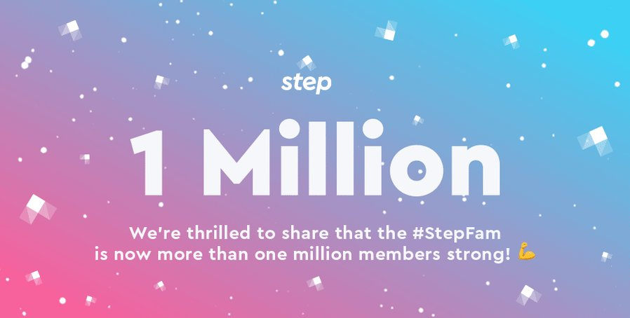 Congrats to the @step team for crossing 1 Million users in less than 4 months and we are excited to welcome @AROD and @JoshRichards to the #stepfam. Let's go!  🎉