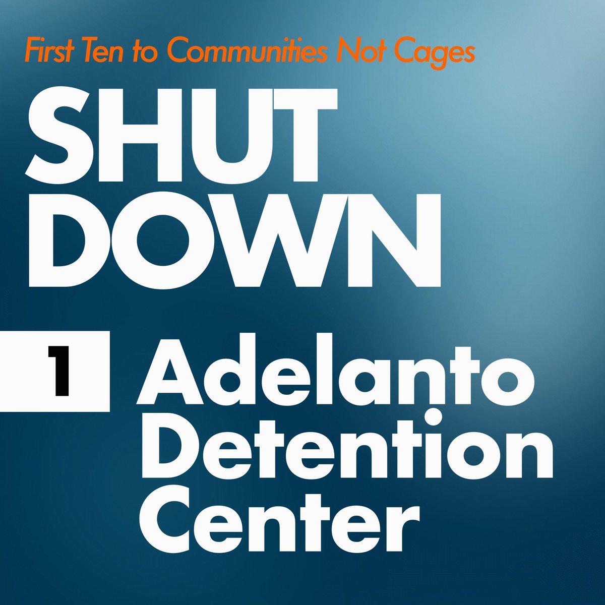 """Today, we're launching the """"First Ten to Communities Not Cages"""" campaign, demanding the shut down of 10 immigration detention centers during the first year of the Biden administration.   Learn more about the campaign:  #FirstTen #CommunitiesNotCages 1/15"""