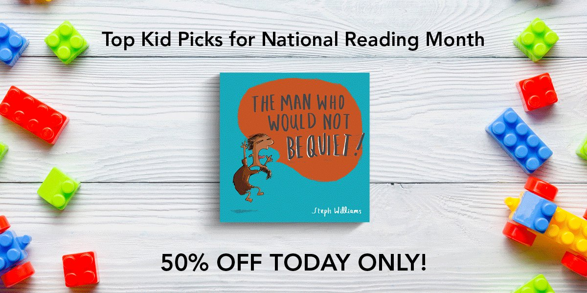 Happy #readacrossamericaday!   To celebrate, our kids' books are ALL on sale for 50% off TODAY ONLY!  Browse the sale:   #ReadAcrossAmerica #kidsbooks
