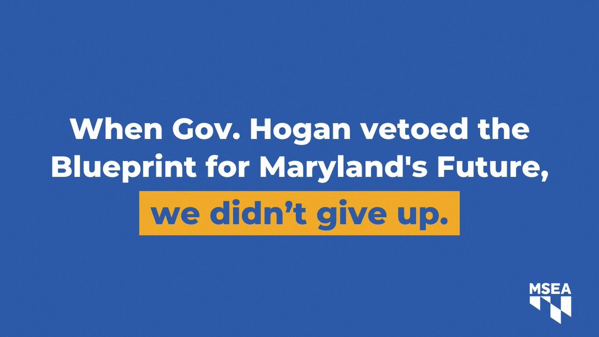 In a difficult year, educators continued to push for the Blueprint for Maryland's Future, which will finally give our schools the resources they need.  Join us next Wednesday at 8:00 p.m. to honor the educator activism that made this happen. Register here: https://t.co/YsvpSlOea4