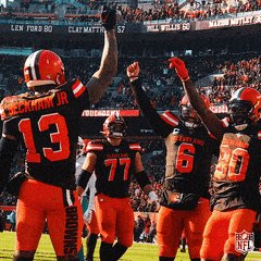 Am I tripping or was @God_Son80 100% in complete passing this past season including a TD pass to @obj and a first down pass to @bakermayfield 🤯🤩 #WeWantMore #BrownsTown