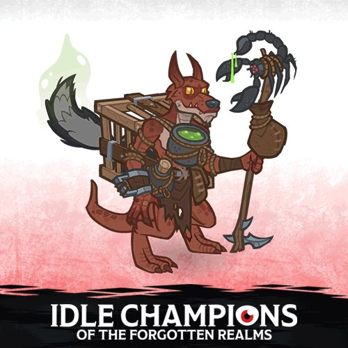Tonight's episode of Critical Role is #sponsored by  @idlechampions! Now players can use the very chill code HAMM-ERSP-LAT! to unlock the mythical (and short-lived) hero brought to life by @ChrisPerkinsDnD AND his wondrous loot haul.   Learn more ➡️