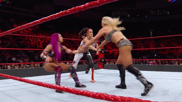 The #BossNHugConnection was good while it lasted, but was it good enough to defeat the team of @MsCharlotteWWE & @NiaJaxWWE on #WWERaw in 2017? @SashaBanksWWE @itsBayleyWWE