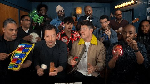 """Getting ready for @nbcsnl tonight with this #FallonFlashback of @jonasbrothers performing """"Sucker"""" using Classroom Instruments! 🎶  #FallonFlashback"""