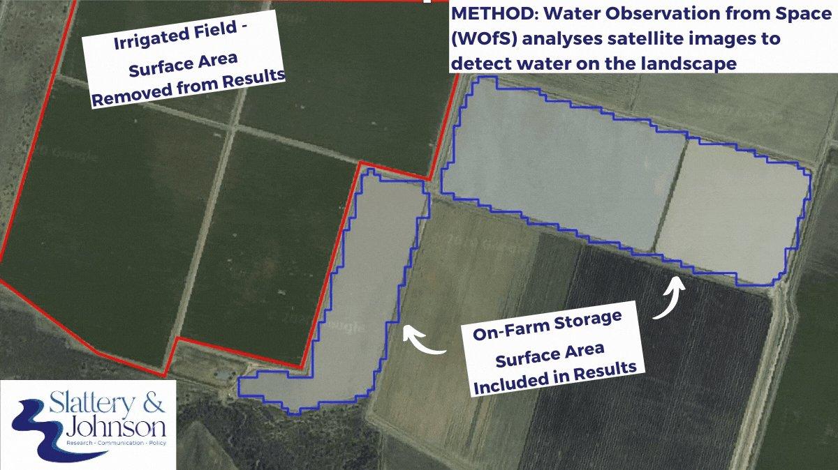 Gif showing satellite analysis of dam storage