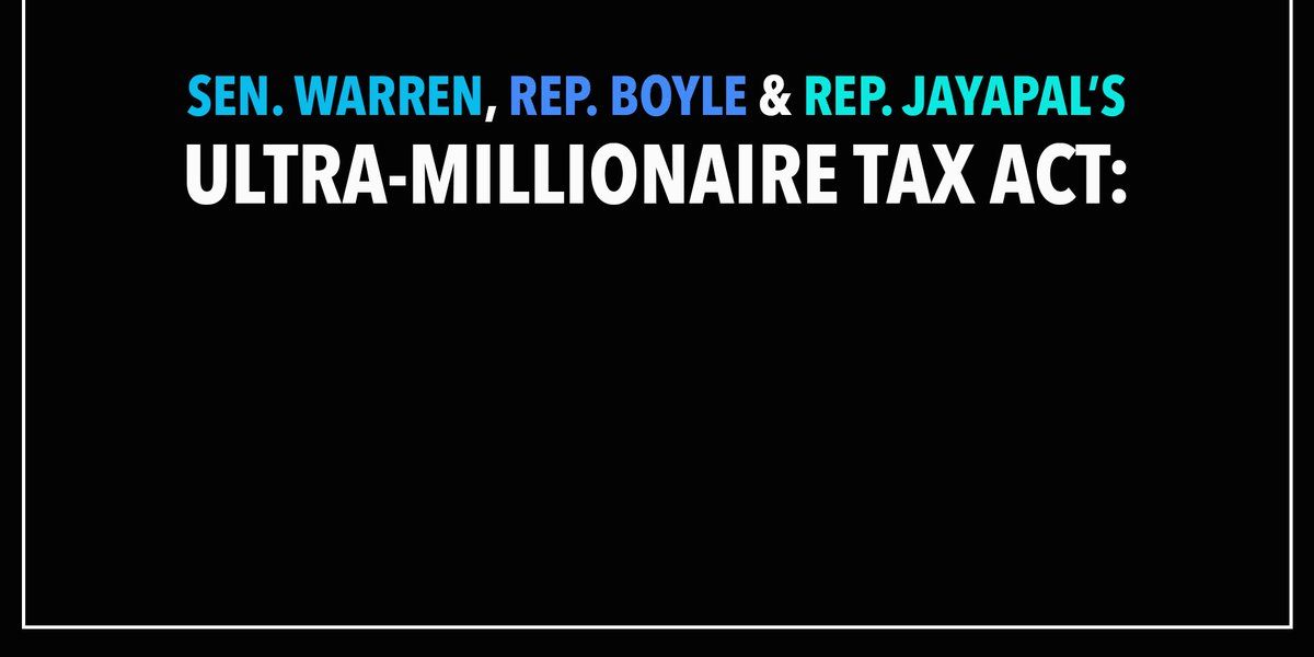 We are proud to support the #WealthTax proposal by @SenWarren, @RepJayapal and @CongBoyle! It's time the wealthiest paid their fair share so we can invest in America's working families.