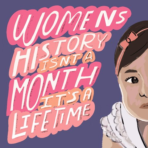 Hi! Today is the first day of the rest of your life AND the first day of #WomensHistoryMonth 2021 (which, ahem, should also last the rest of your life). Better get started. Here's a place to do that: .