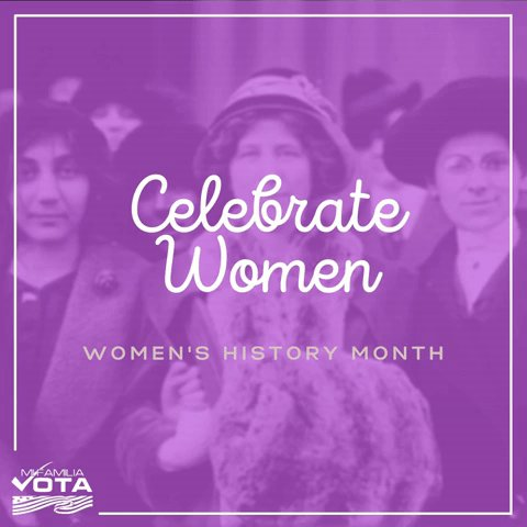 Happy #WomensHistoryMonth   We celebrate the cultural, social, and economic achievements of all women who helped accelerate the conversation around gender equality in the U.S. and world.   Tag a woman who inspires you✨