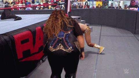 Replying to @WWEUniverse: NOPE.  #WWERaw @MsCharlotteWWE @NiaJaxWWE