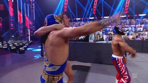 Replying to @WWE: .@LuchadorLD, @WWEGranMetalik & @SuperKingofBros grab the victory over #RETRIBUTION.   #WWERaw