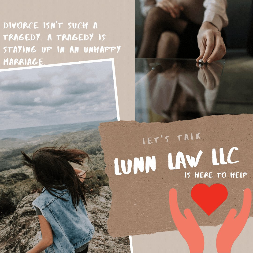 Divorce isn't such a tragedy. A tragedy is staying up in an unhappy marriage. If you need someone to talk to We Are Here To Help. Feel free to comment or send us a DM👇  #GAlawyer  #LunnLawLLC  #attorney  #family law