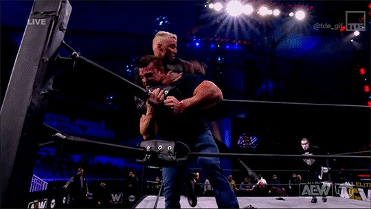 Take that, Team Taz! @Sting and @DarbyAllin are looking like a force! #AEWDynamite #AEWonTNT