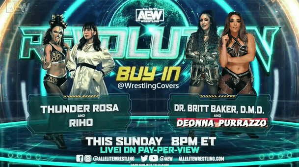 I was rewatching #AEWDynamite, and just realized that Tony said Reba may not be cleared for #AEWRevolution and Britt may choose a replacement...  Could it be Deonna Purrazzo??? 👀🤞🏻🤞🏻
