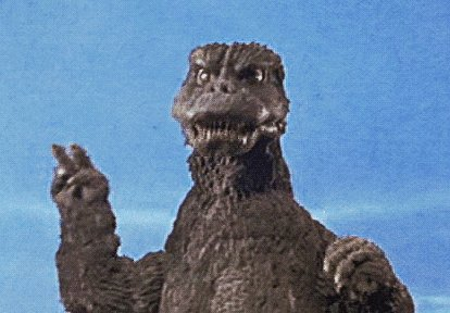 "#GodzillaNeverSaid, ""I'll take two Big Belly Burgers."" @KaceyecaK @efoxband"