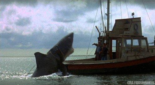 Sometimes It's not about getting a bigger boat, sometimes it is all about finding a less sexy one. #jaws #Shark @MasonVaughnDied @BSBargainBin @SchoolofSchlock @thelosttreefilm @DarknessTales_