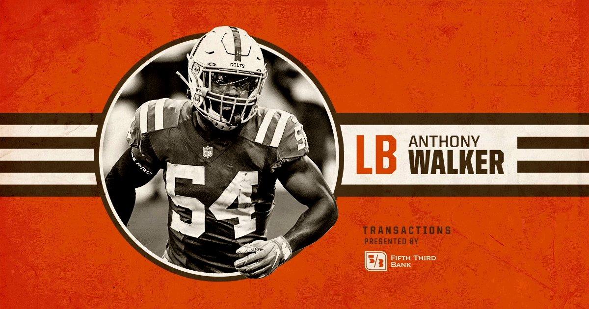 Welcome to Cleveland, @__AWalkJr❗️  We've signed LB Anthony Walker » https://t.co/DD7QbTxvGH https://t.co/jDG62YjGhO