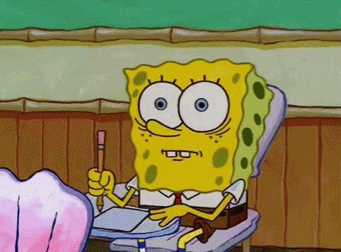 Spongebob Exams GIF