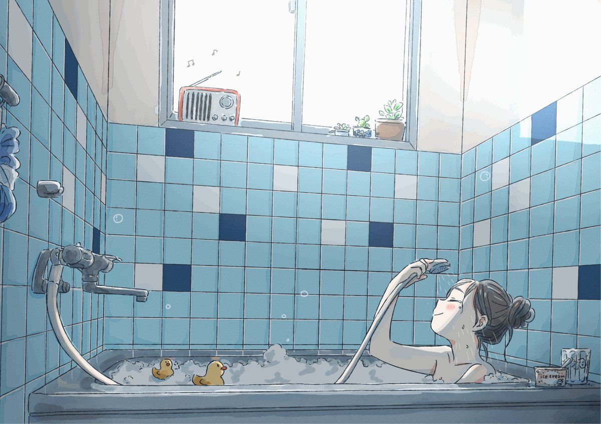 「明るいうちに入るお風呂」とても贅沢でゆったりした時間