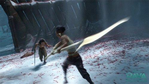 Sword Fight Namaari GIF