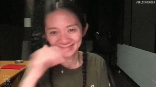 Cheers Chloe Zhao GIF