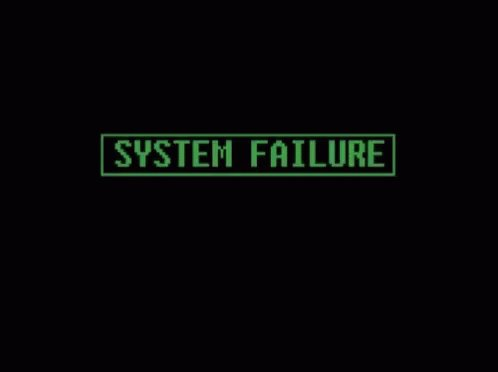 System Failure System Down GIF