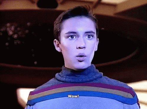 Wow, Wesley - Star Trek GIF