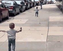 Running Hug GIF