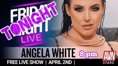 8pm PT, tonight = @ANGELAWHITE on AVN Stars for a FREE #FridayNightLive Show ⏰💣💥 🐐stars.avn.com/angelawhite💯