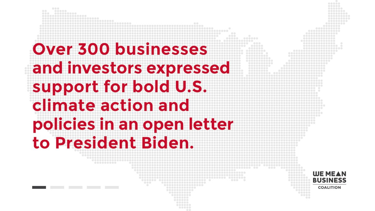 More than 300 businesses and investors are calling on @POTUS to adopt the ambitious and attainable target of cutting emissions by at least 50% by 2030. Read their open letter to President Biden. #AllInFor50 https://t.co/RUS3IEFIpk