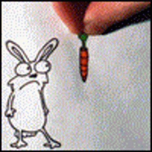 Rabbit Carrot GIF