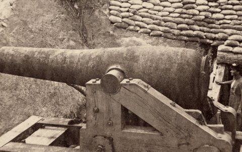 war cannon GIF by Vintage 3D