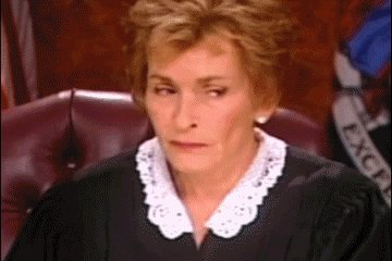 Judge Judy Reaction GIF by Agent M Loves Gifs