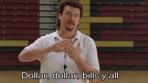 Dollar Dollar Bills Y'all GIF