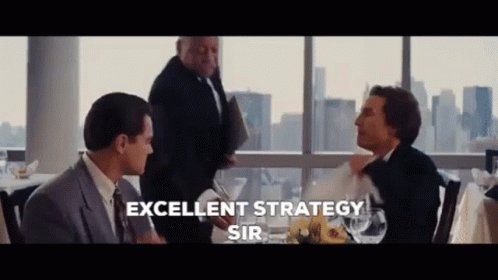 Excellent Strategy Sir The Wolf Of Wall Street GIF