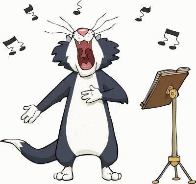 Cat Singing GIF