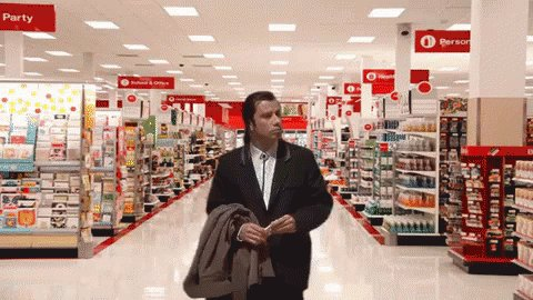 John Travolta In Retail GIF