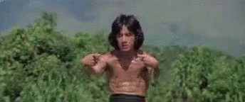 Jackie Chan was one of my heroes growing up.   Happy birthday, Jackie!   Go and watch drunken master. Both of them.
