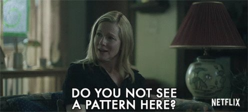 Do You Not See APattern Here Laura Linney GIF