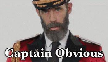 Captain Obvious GIF